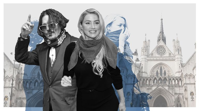 Johnny Depp and Amber Heard hero image for Gemma Peplow first-week round-up of libel action v The Sun DO NOT USE IN ANYTHING ELSE