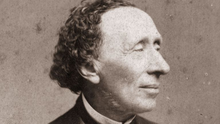 Hans Christian Andersen in around 1870