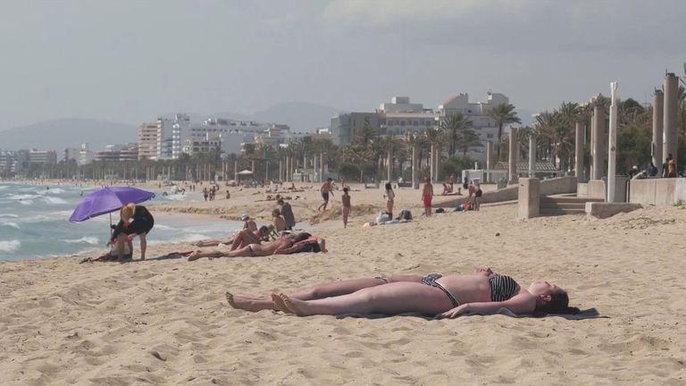 whitehead holidays generic beach photo of sunbathing holiday