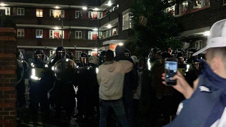 Police break up illegal 'block party' in west London
