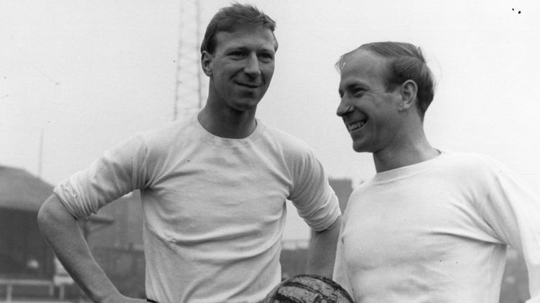 Jack Charlton (left) and his younger brother Bobby were both members of the 1966 World Cup-winning England team