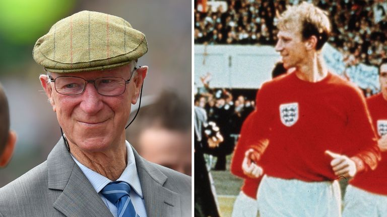 Jack Charlton recently and on a victory lap after winning the World Cup in 1966