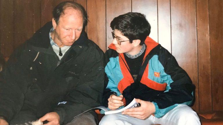 Enda Brady interviewed Jack Charlton as a teenager. Pic: Enda Brady
