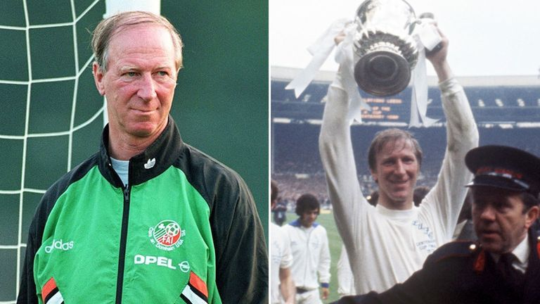Jack Charlton was Republic of Ireland manager and on England's World Cup-winning team