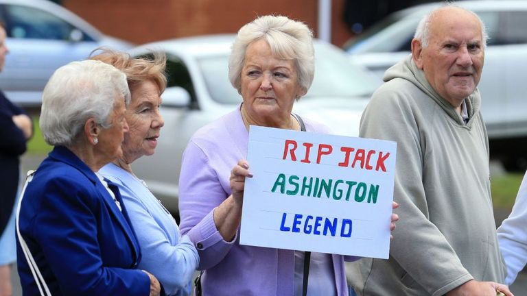 People from Chalrton's hometown paid tribute to a 'Ashington' legend