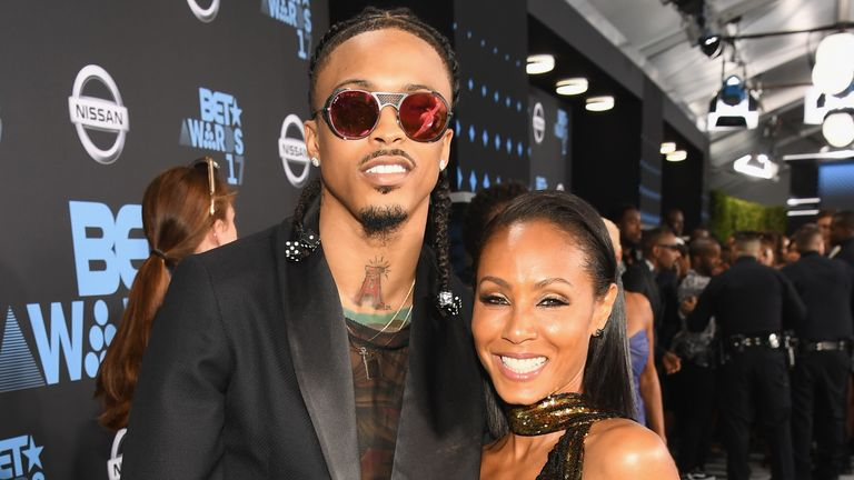 Pinkett Smith and Alsina at the 2017 BET Awards