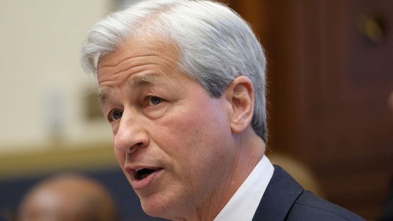 WASHINGTON, DC - APRIL 10: Jamie Dimon, chief executive officer of JPMorgan Chase & Co., speaks during a House Financial Services Committee hearing on April 10, 2019