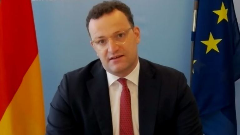 Germany's federal health minister Jens Spahn