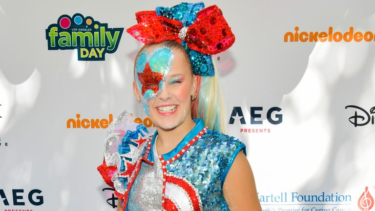 LOS ANGELES, CALIFORNIA - OCTOBER 05: JoJo Siwa attends T.J. Martell Foundation's 10th Annual LA Family Day at The Grove on October 05, 2019 in Los Angeles, California. (Photo by Rodin Eckenroth/Getty Images)