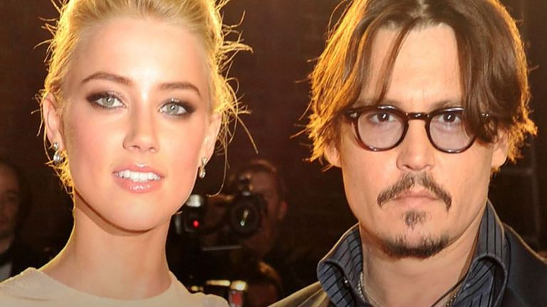 Johnny Depp and Amber Heard in more amicable times