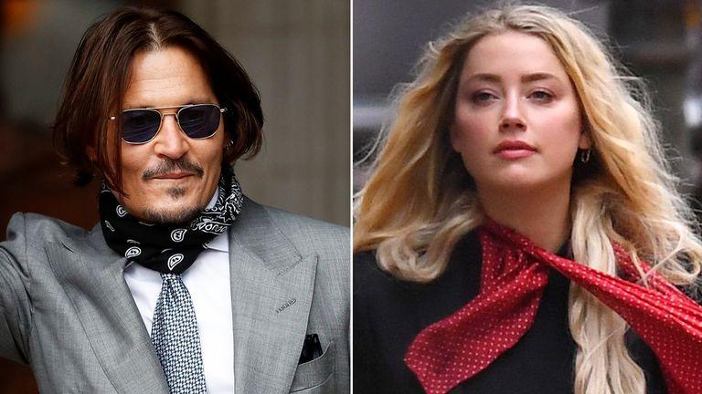 Johnny Depp and Amber Heard. Pics: Reuters/James Veysey/Shutterstock