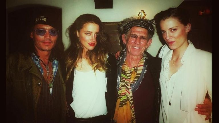 Johnny Depp, Amber Heard, Keith Richards, Whitney Henriquez