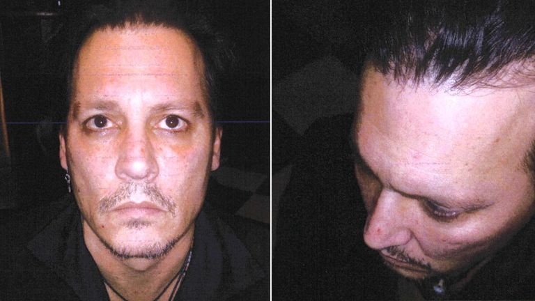 Johnny Depp's head of security says he took this picture in December 2015