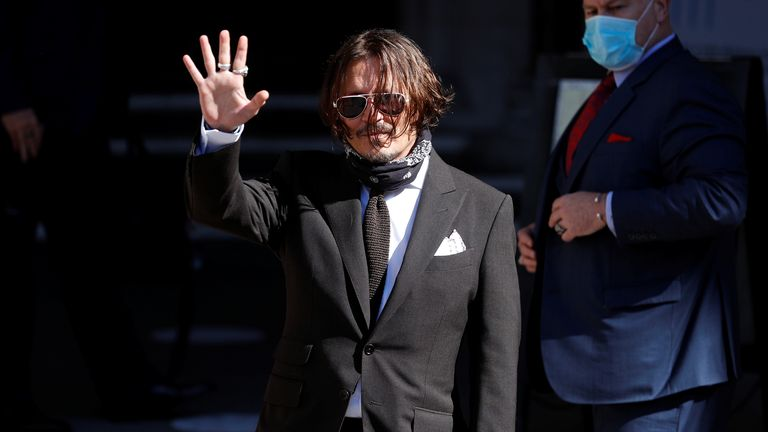 Johnny Depp arrives in court