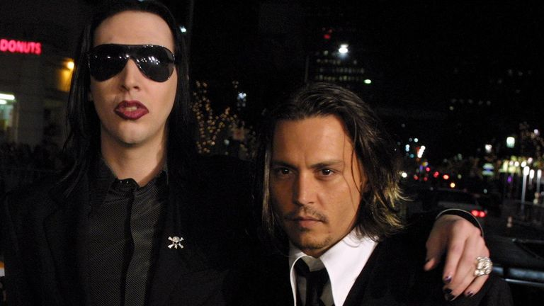 Marilyn Manson and Johnny Depp in 2001. Pic: Bei/Shutterstock 