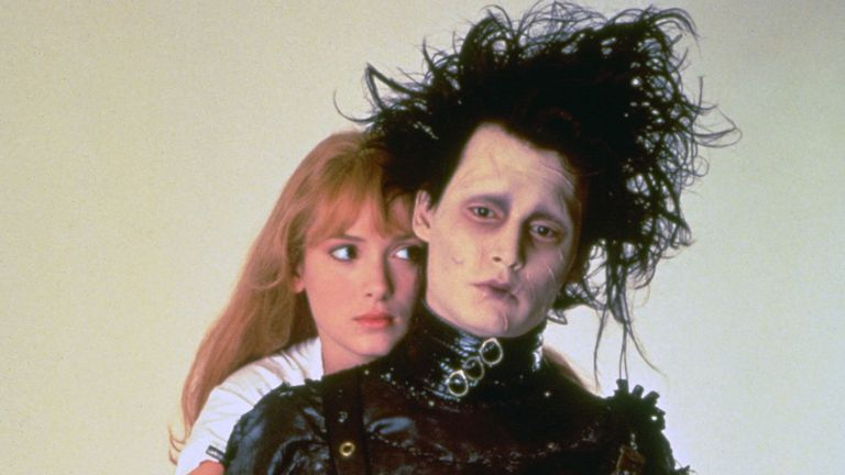 Winona Ryder, Johnny Depp, Edward Scissorhands - 1991. Pic: 20th Century Fox/Kobal/Shutterstock