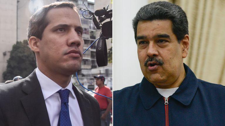 Juan Guaido and Nicolas Maduro