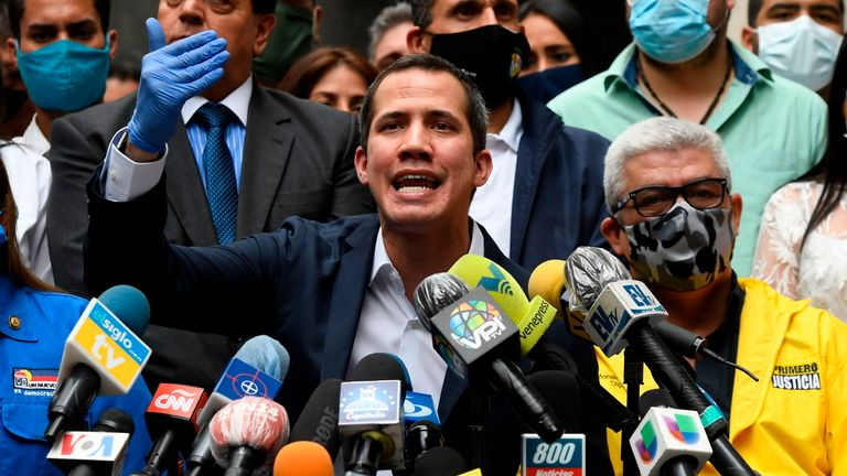 Venezuelan opposition leader and self-proclaimed acting president Juan Guaido