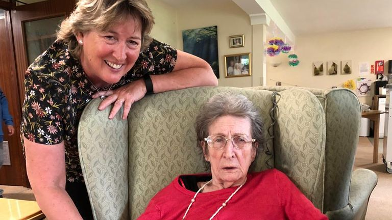 Helen Keenan, left, has said patients like her mother Kathleen, right, were like 'fodder on the infantry line'