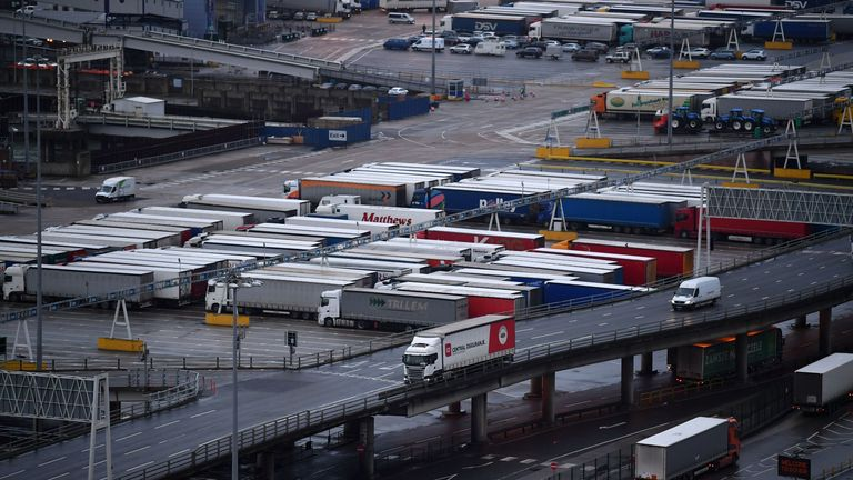 The land will be used for a lorry park at first as queues for ferries are expected after the transition period