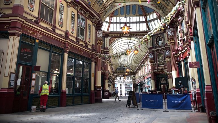 Leadenhall Market has rarely stood so still
