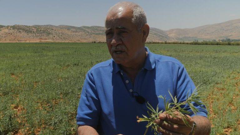 Talal Shreif, mayor of the village of Yammoune in Lebanon's Beqaa Valley supports legalisation