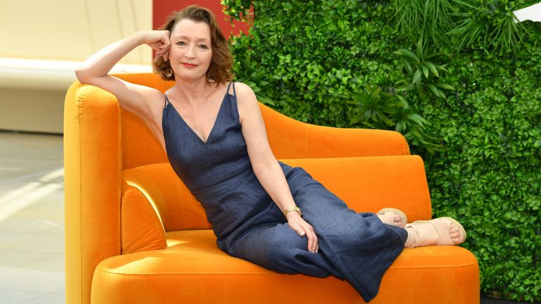 "MONTE-CARLO, MONACO - JUNE 17: Lesley Manville from the serie ""World on Fire"" attends the 59th Monte Carlo TV Festival : Day Four on June 17, 2019 in Monte-Carlo, Monaco. (Photo by Pascal Le Segretain/Getty Images)"
