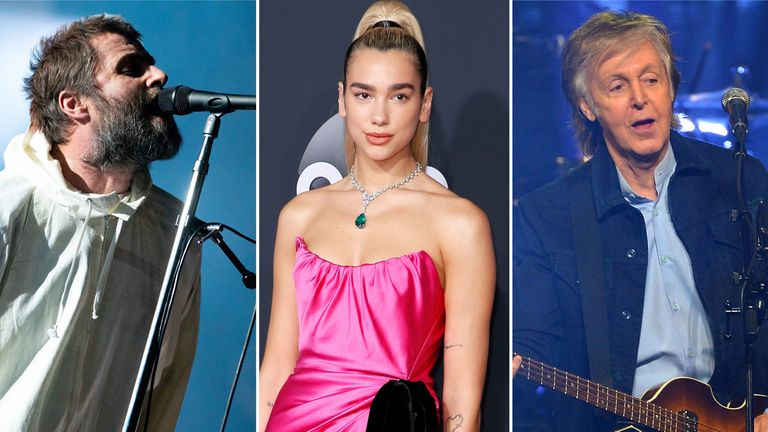 Liam Gallagher, Dua Lipa, Sir Paul McCartney