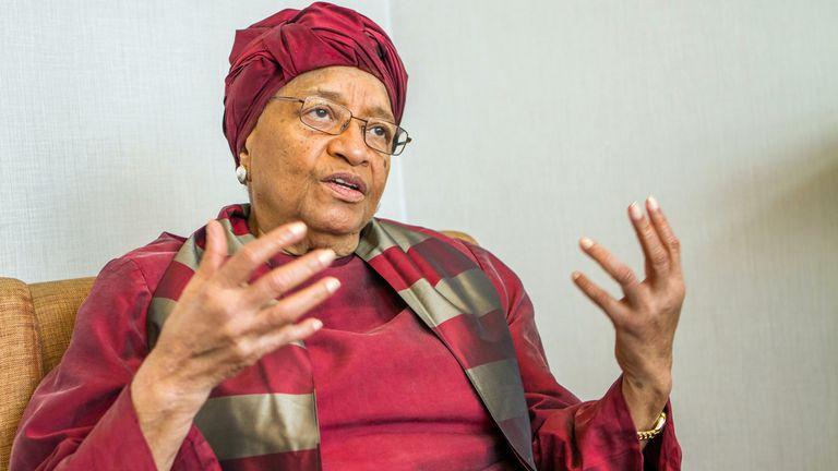 Former Liberian President Ellen Johnson Sirleaf