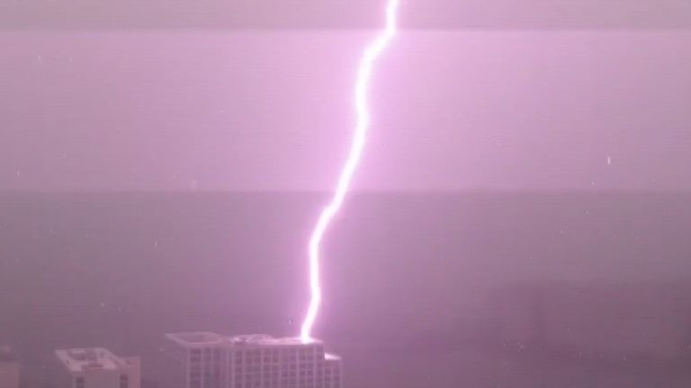 New Jersey resident is shocked by thunder and lightning