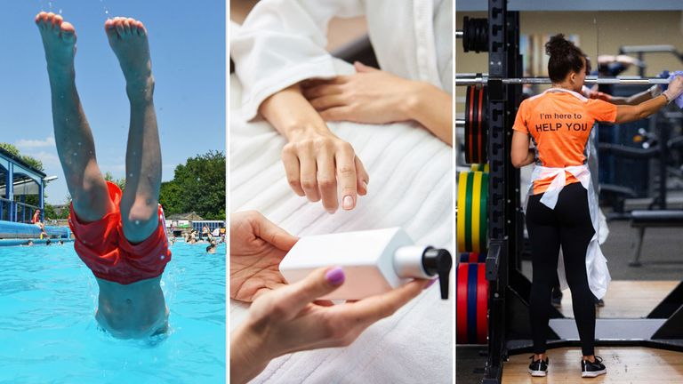 Swimming pools, beauty salons and gyms in England are set to reopen