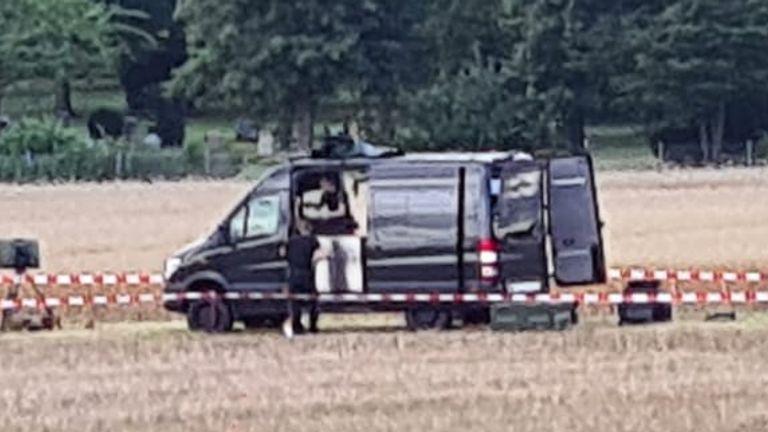 Police search. Pic: Maik Niemtschke