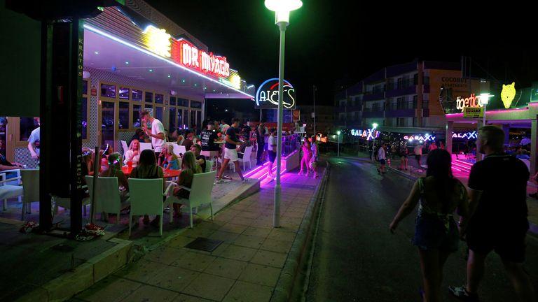 Punta Ballena street in Magaluf