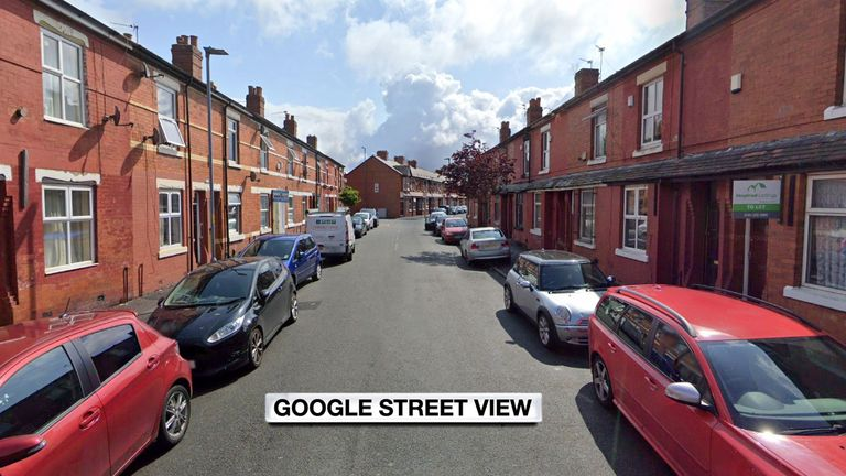 The victim pronounced dead at the scene in Henbury Street, Manchester