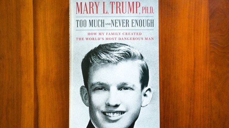 Mary Trump's book 'Too Much and Never Enough'. Pic: Jim Lo Scalzo/EPA-EFE/Shutterstock
