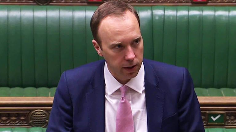Health Secretary Matt Hancock MP
