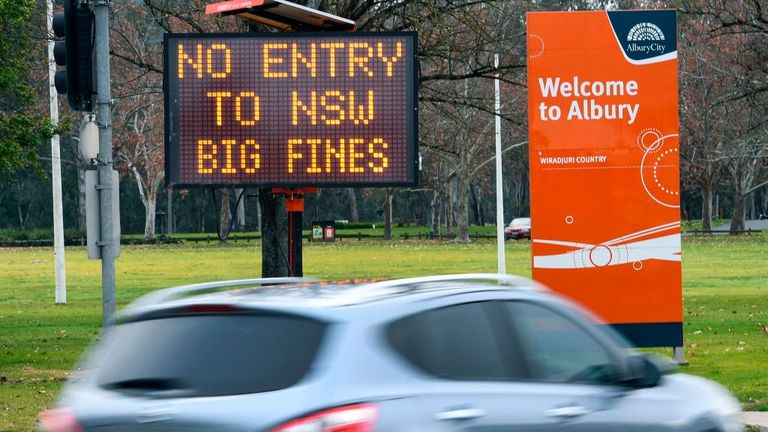 Those crossing the Victoria-New South Wales border without permission from Tuesday night will be fined or even imprisoned