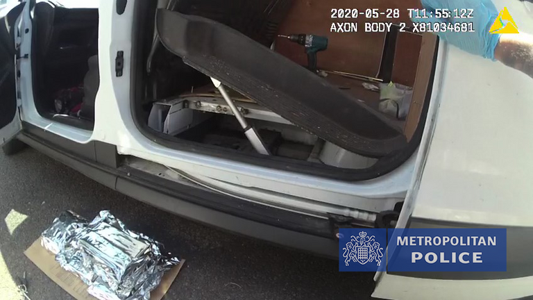 "High-value watches, jewellery and two kilos of cocaine seized as part of one of the Met Police's largest operations to tackle serious and organised crime were found in specially-built ""hides"" concealed in vehicles"