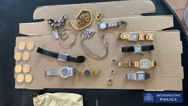 High-value watches, jewellery and two kilos of cocaine seized as part of one of the Met's largest operations to tackle serious and organised crime were found in specially-built hides concealed in vehicles