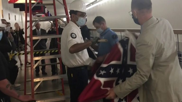 Mississippi flag is removed from US Capitol subway