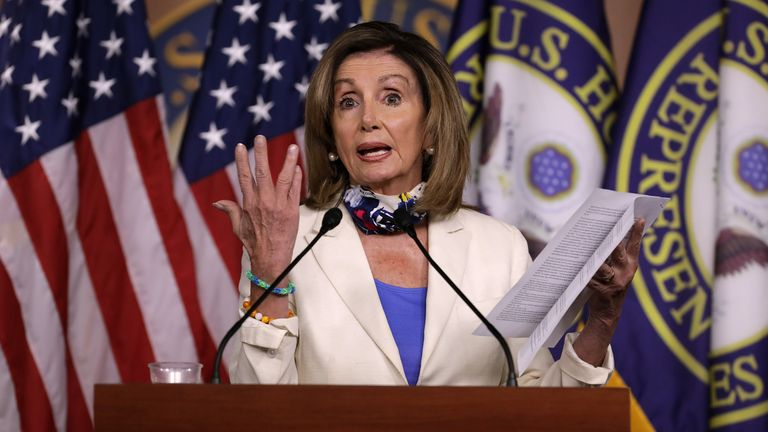 Trump Will Be Fumigated Out Of White House If He Loses Election Nancy Pelosi Says Us News Sky News