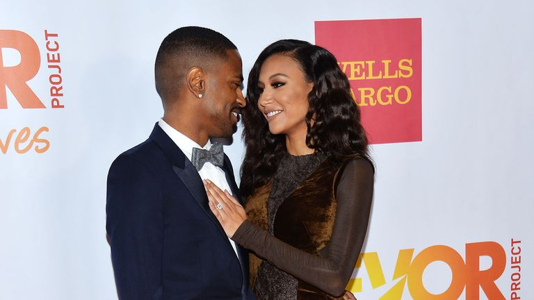 HOLLYWOOD, CA - DECEMBER 08: Hip hop artist Big Sean (L) and actress Naya Rivera arrive at the TrevorLIVE Los Angeles Benefit celebrating The Trevor Project's 15th anniversary at the Hollywood Palladium on December 8, 2013 in Hollywood, California. (Photo by Amanda Edwards/WireImage)