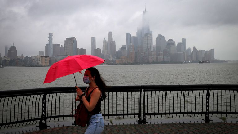 New York has faced heavy rain ahead of Storm Fay's arrival