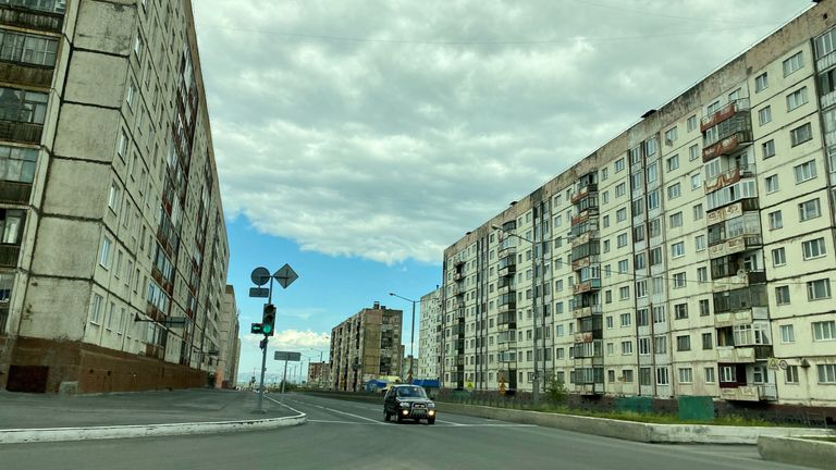 The Russian city of Norislk. Pic: Anastasya Leonova