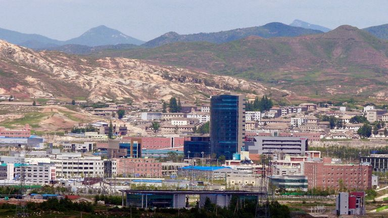 The North Korean city of Kaesong has been put under lockdown