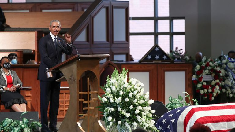 The former president follows the tributes given to Congressman John Lewis.