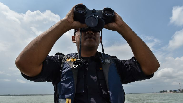 Malaysian Maritime Enforcement Agency officer