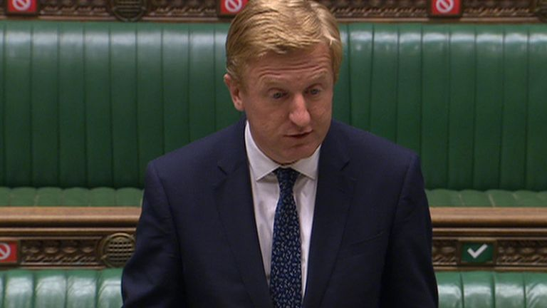 Mr Dowden announced the decision in the Commons