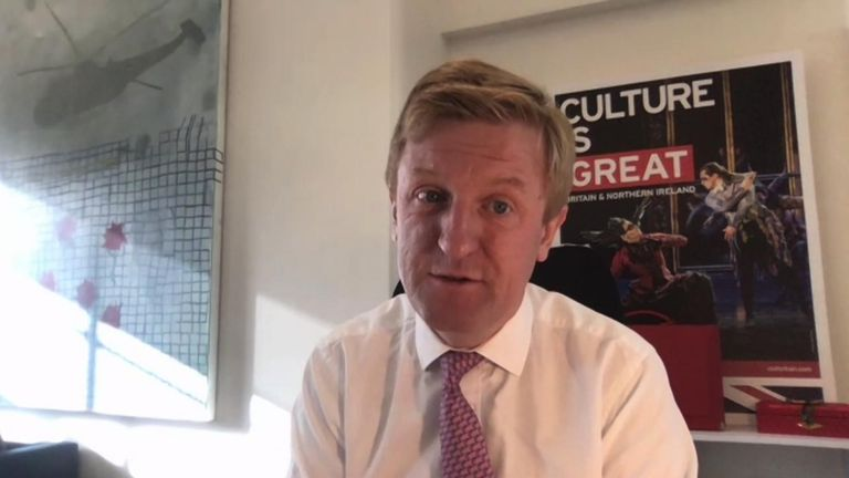 Culture Secretary Oliver Dowden was asked by Kay Burley if panto would resume this year.