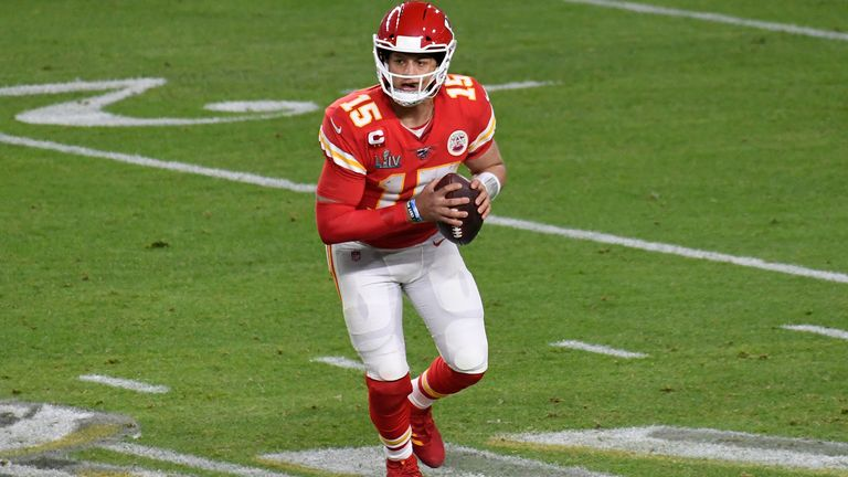 Mahomes is a quarterback with the Kansas City Chiefs